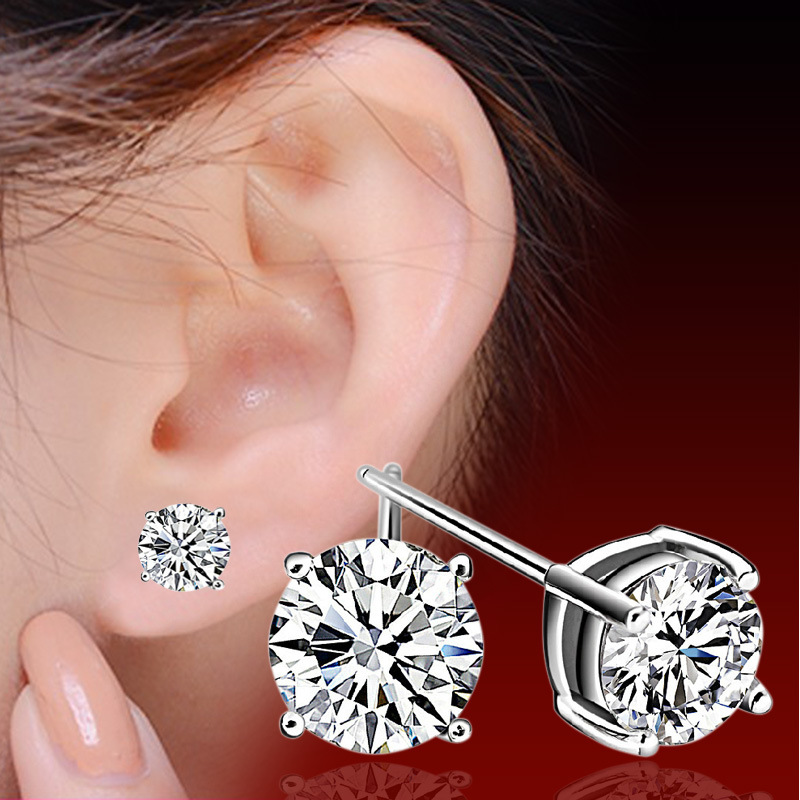 Chinese Korean Version Of Cute Female Hypoallergenic Earrings Four Claw Earrings Of Men And Women(China (Mainland))