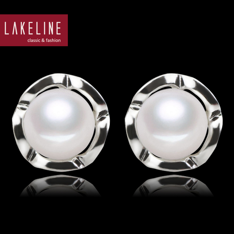 100% Natural Freshwater Pearl Earrings High Quality AAA Real Pearl Jewelry 2016 Fashion Elegant Bridesmaid Stud Pearl Earring(China (Mainland))
