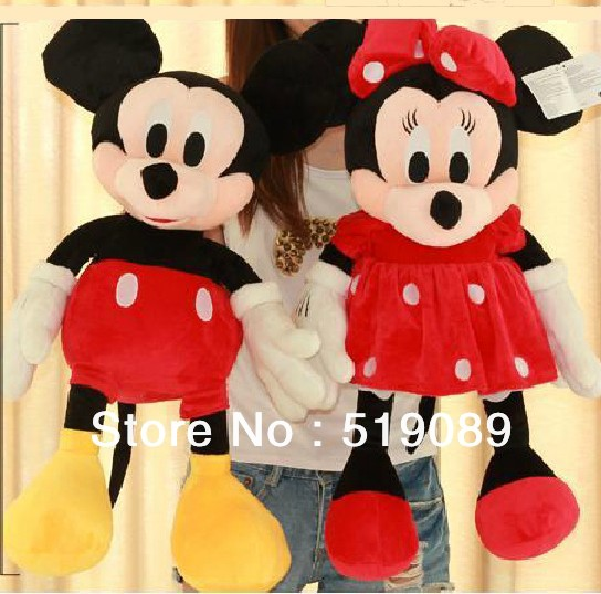 Free Shipping 31.5'' 80cm Lovely Mickey Mouse And Minnie Stuffed Animal Toys For Children's Gift ,Christmas Gifts(China (Mainland))