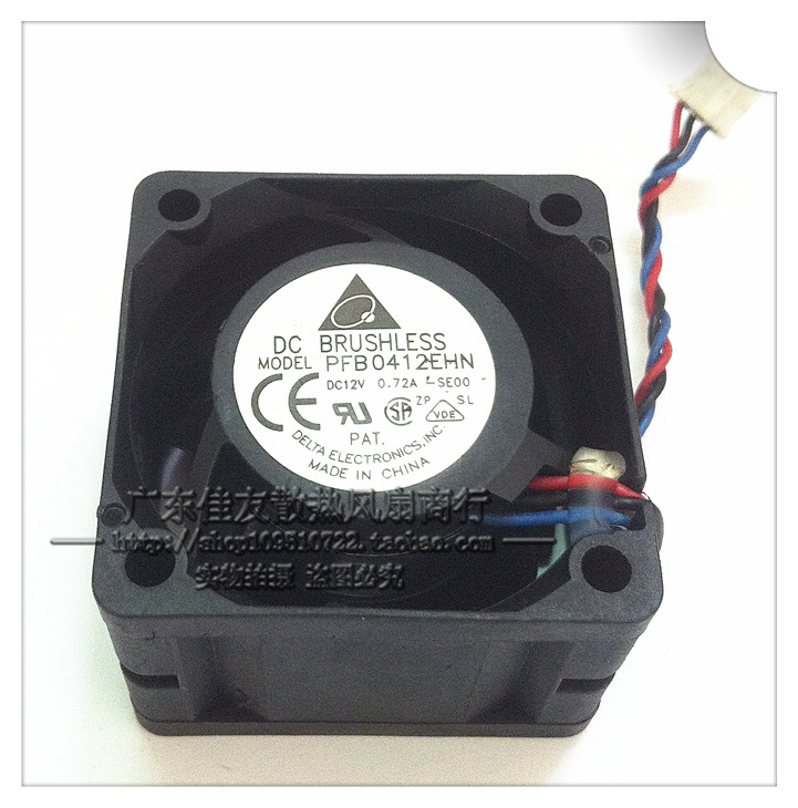 Free Shipping For DELTA PFB0412EHN, SE00 DC 12V 0.72A 3-wire 3-Pin connector 70mm 40X40X28mm Server Square Cooling fan<br><br>Aliexpress