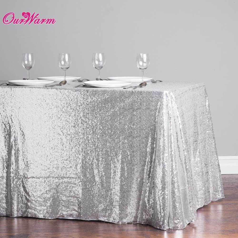 Online buy wholesale sequin tablecloths from china sequin - Manteles para mesas redondas ...