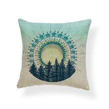 Đẹp Cá Tính Đệm Bộ Núi Gỗ Hươu Ghế Sofa Phòng Khách Trang Trí Đệm Polyester Vải Lanh Còn Lại Gối(China)