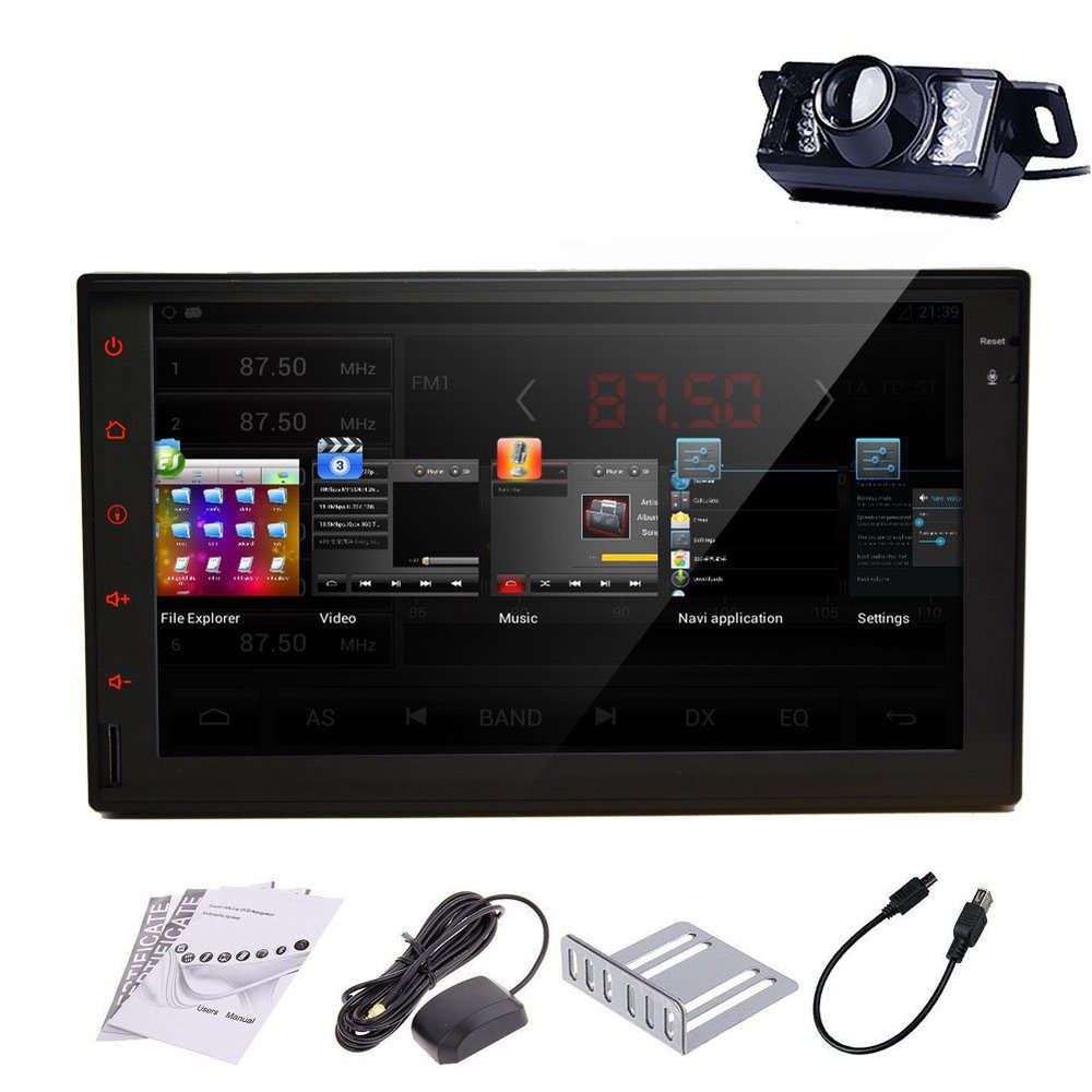Pure Android 4.2 Dual-Core CPU double 2 Din In dash Car PC Stereo GPS Navi No-DVD mp3 Player 2din Radio 3G WiFi iPod+Rear Camera(China (Mainland))