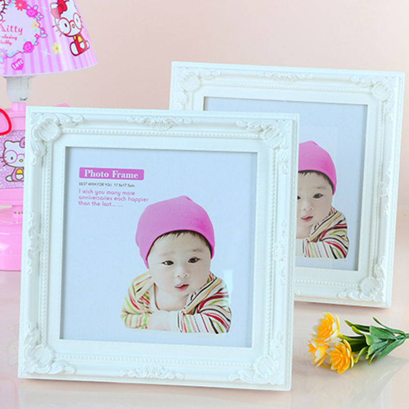 Square Modern Plastic Baby Photo Frames For Picture Album Home Decor Wedding Pictures Frames Best Gift For Baby Birthday(China (Mainland))