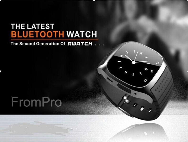 ถูก ใหม่M26บลูทูธสมาร์ทดูนาฬิกาข้อมือหรูR s mart w atchนาฬิกาด้วยDial SMSเตือนPedometerสำหรับA Ndroid S Amsungโทรศัพท์