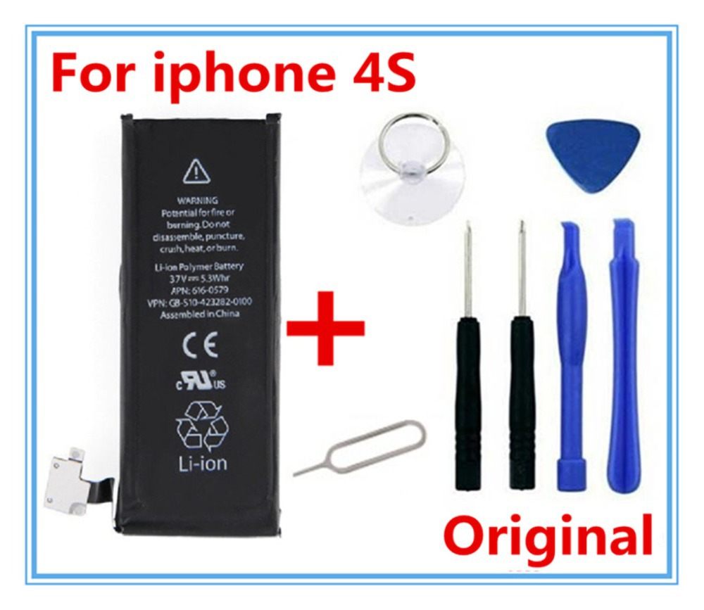 100 original 1430 mah 3 8 v li ion battery for iphone 4s. Black Bedroom Furniture Sets. Home Design Ideas