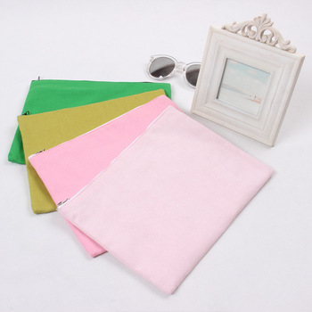 New Cotton Canvas Fabric Handmade Handbag Mobile Pouch Coin Key Purse Solid Color-choosing P015