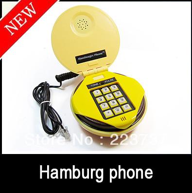 5/pcs Fashion Juno Hamburger Cheeseburger Burger Phone Telephone Free Shipping(China (Mainland))