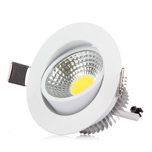 1pcs Super Bright Dimmmable COB Led Ceiling Light 3W 6W Led Recessed Down light Lamp with Driver AC85-265V  Led Spotlighting (China (Mainland))