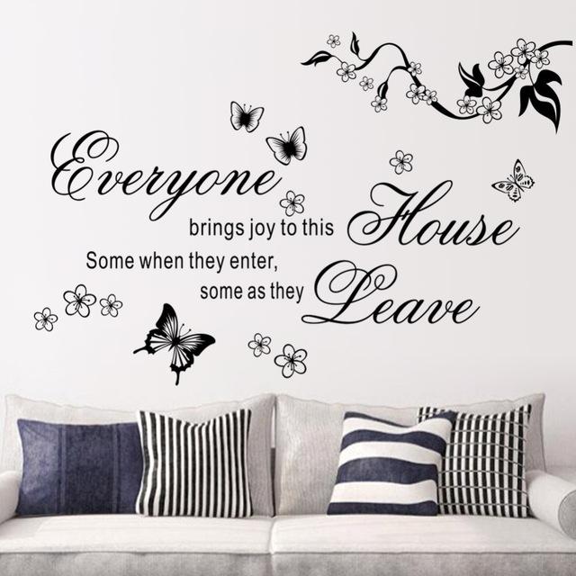 Online get cheap joyful quotes alibaba group - Stickers muraux pour salon ...