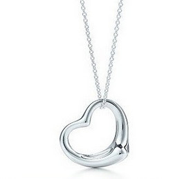x2 Korean jewelry fashion simple silver plated peach heart necklace jewelry accessories for women Free Shipping