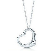 x2 Korean jewelry fashion simple silver peach heart necklace jewelry accessories for women Free Shipping