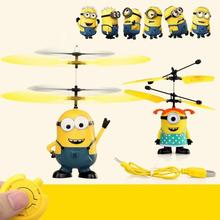 11 PC 2016 Fly Minion Toy RC Helicopter Radio Sensor Remote Control Mini RC Helicopter Gifts Male Or Female Sent In Random(China (Mainland))
