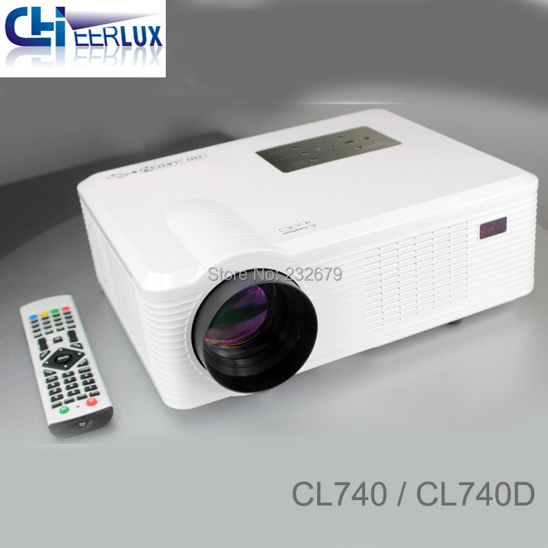 Brand new cheerlux native 800*480 portable 2400 lumens projector with 200mm projection lens for large screen up to 260 inch(China (Mainland))