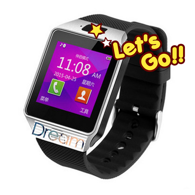 Smart Watch Latest Card Bluetooth Support Android Apple System,Long Bettery Life Smart Mobile Phone Watch With SIM Card DZ09(China (Mainland))