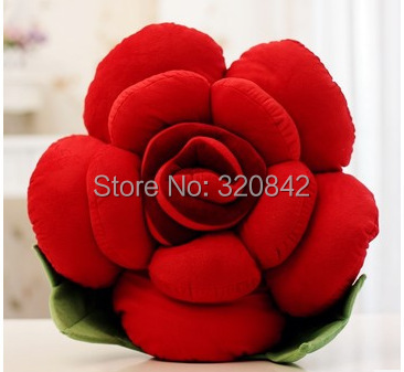 New Cute 15Cm mini Plush cushion Cotton Rose Pillow Cushion Flower Chair Cushions lovers Gift 7 Colors birthday gifts(China (Mainland))