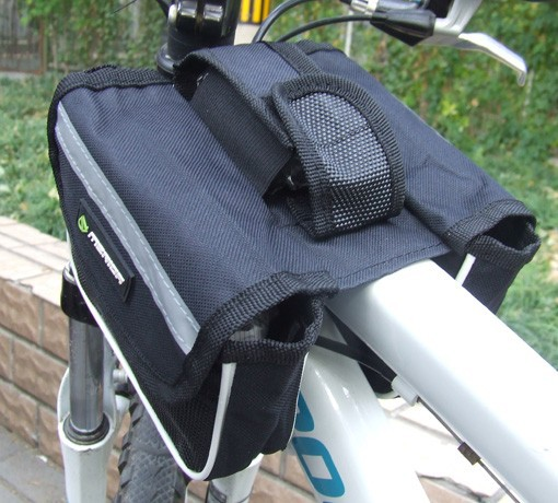 3 colors Cycling Bike Black Bicycle Frame Pannier Front Tube Saddle Bag travel organizer Drop shopping[D2060] - Anne's lou store