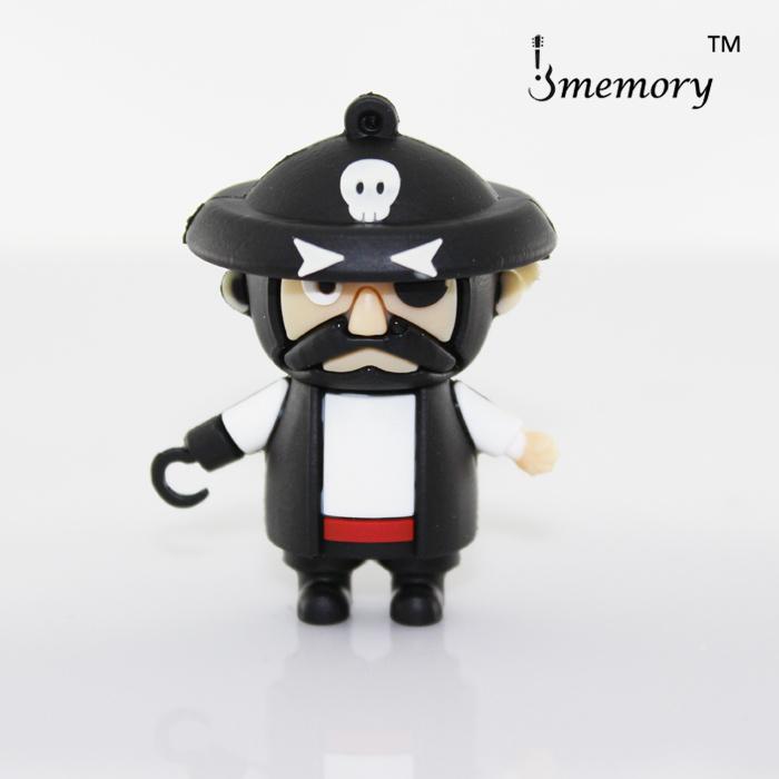 Retail Cartoon Pirate Captain Hook USB Flash Drive USB Memory Pen Drive 2GB 4GB 8GB 16GB 32GB free shipping(China (Mainland))