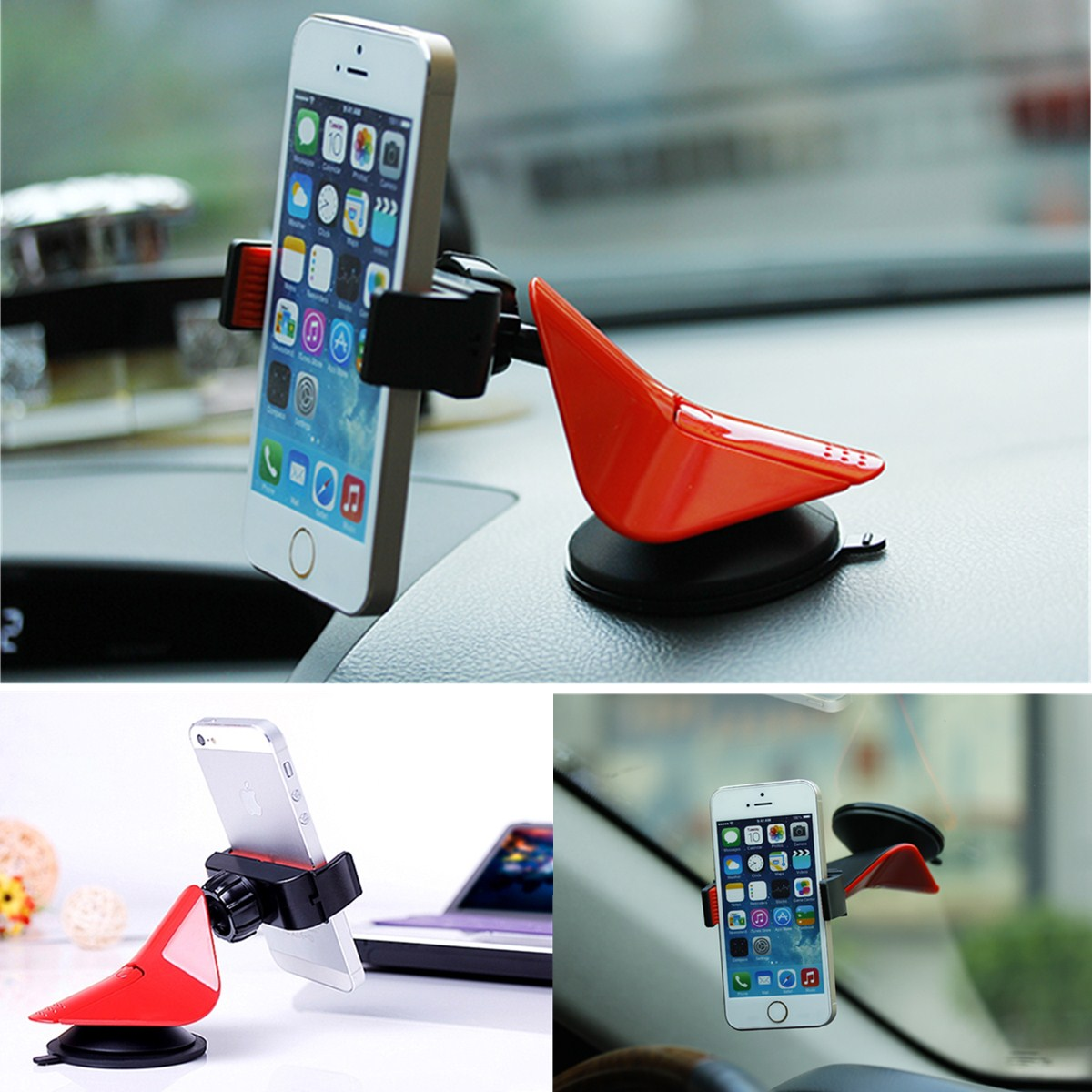 Best Price 360 Rotating Car Mount Dashboard Cradle Cell Mobile Phone Holder Stand For iPhone 6 plus For Samsung For HTC(China (Mainland))
