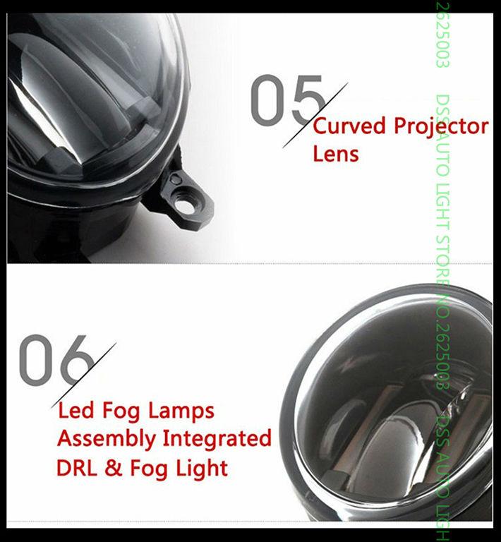 Купить 3.5 Дюймов 90 мм Круглый LED Противотуманные фары Дневного Лампы СВЕТОДИОДНЫЕ чипсы Противотуманные Фары DRL Светильники Объектив для Honda Fit Jazz 2014 2015