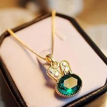 1 piece Korean Style Fashion necklace Pendants with gift Box Cute little rabbit crystal necklace pendants(China (Mainland))