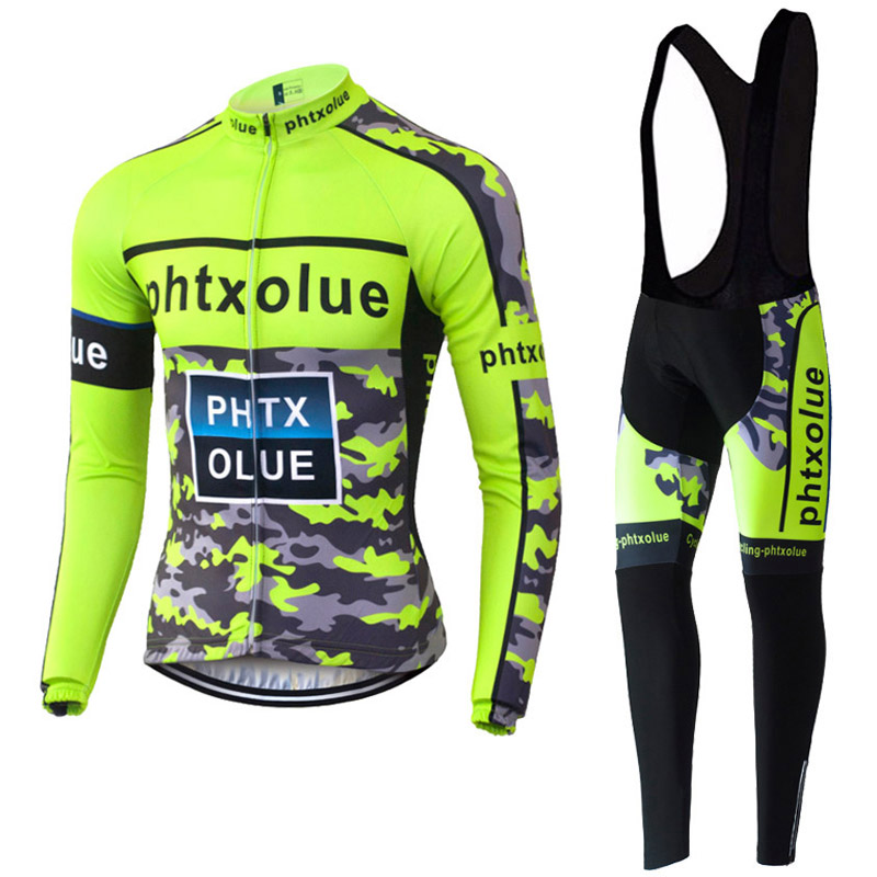 Long Sleeve Cycling Clothing 2016 Breathable Bike Wear Ropa Ciclismo Maillot Ciclismo Fluorescent Cycling Jerseys Men(China (Mainland))