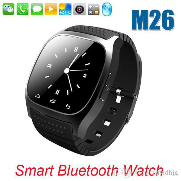Bluetooth Smartwatch M26 with LED Display Barometer Alitmeter Music Player Pedometer for Android IOS Mobile Phone Free shipping(China (Mainland))