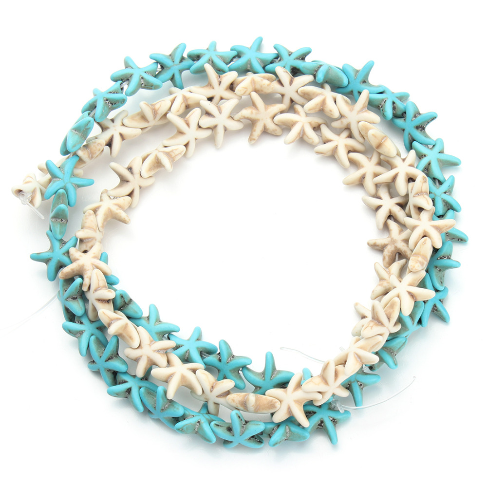 Approx.38pcs/pack 1.3cm*1.3cm Starfish Loose Spacer Blue White Turquoise Beads Small Seed Beads DIY  F1273C(China (Mainland))