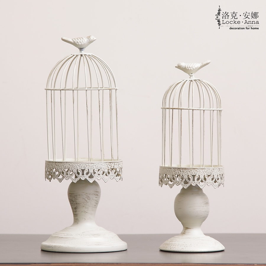free shipping fashion french vintage retro finishing tieyi small bird cages decoration home. Black Bedroom Furniture Sets. Home Design Ideas