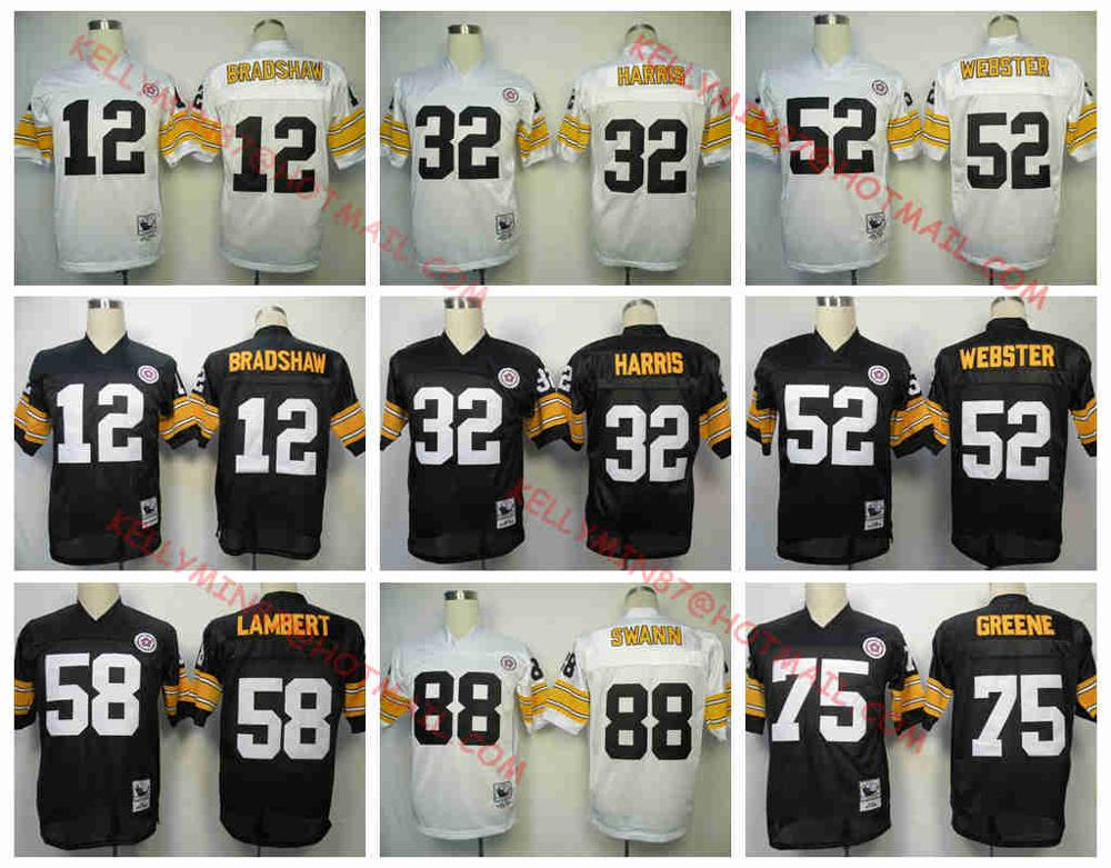 Pittsburgh Steelers,Terry Bradshaw,Franco Harris,Bettis,Mike Webster,Jack Lambert,Joe Greene,Lynn Swann,Throwback,camouflage(China (Mainland))
