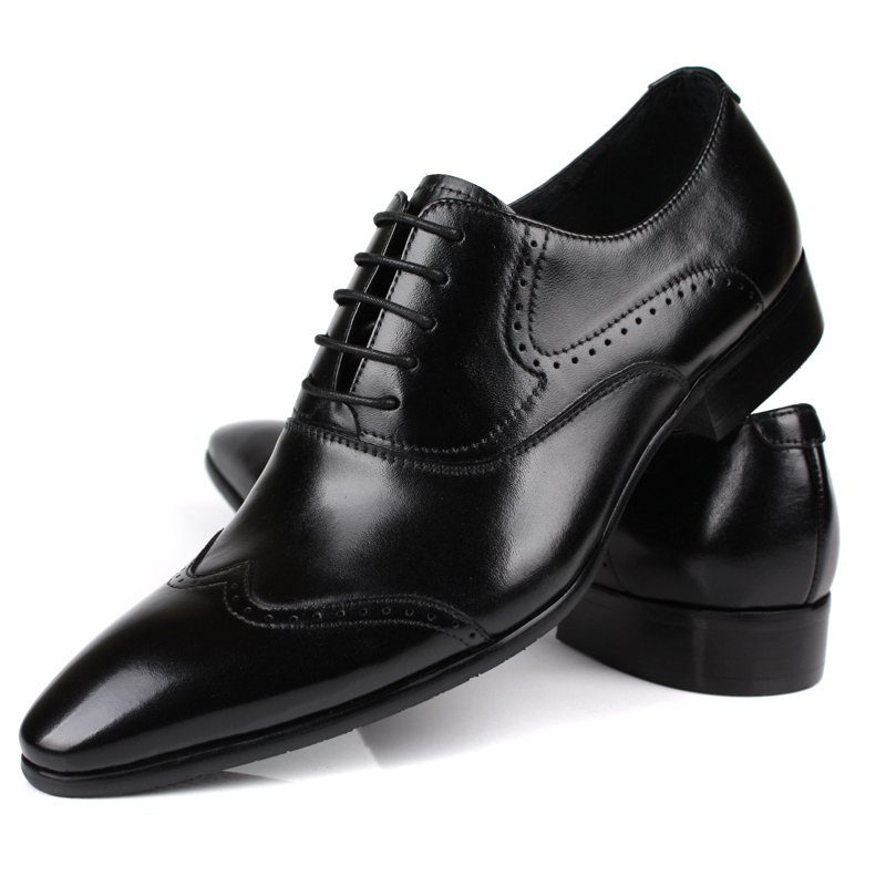New Mens Dress Work Shoes Wingtip Loafers Leather Wedding Party Casual Shoes Lace Up Eur 37 To ...