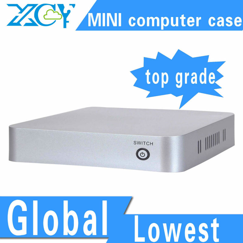 XCY L-19 ABS computer enclosure small computer case ABS material support RJ-45 port/microphone/earphone(China (Mainland))