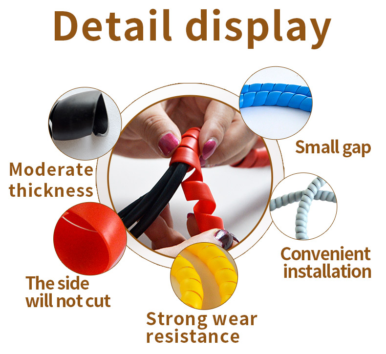 8mm cable sleeve wind pipe Colorful cable wire protect case computer cable store manage device pipe bag line case cable protect