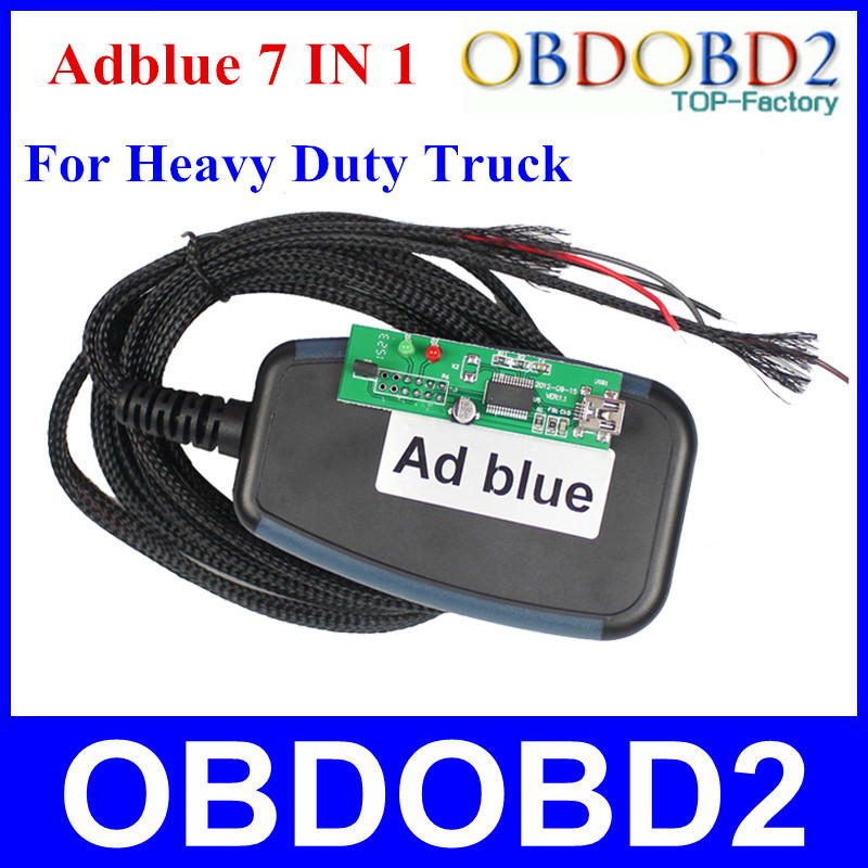 Newest 7 In 1 Adblue Emulator Remove Tool For Multi-Brand Trucks Adblue 7 In 1 Perfessional Diagnostic Tool Free Shipping(China (Mainland))