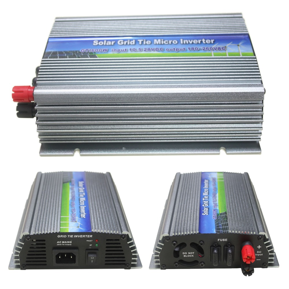 600W On Grid Tie Inverter 600W Micro Inverter Input DC10.5V-28V to AC90-140V or AC180-260V DC Solar Power Inverter 600W GTI-600W(China (Mainland))