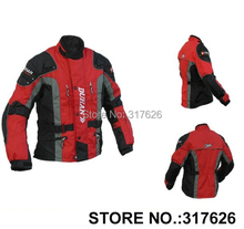 Duhan uomo motor oxford jacket motorcycle racing jacket giacca giacca motocross, giacca lunga con 5 pieces protezione il giallo(China (Mainland))