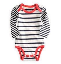 3pcs Set Spring Fashion Striped Long Sleeve Children Baby Clothes Kids Jumpsuit + Pant + Tender Cap 67(China (Mainland))