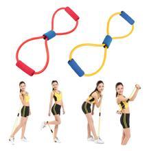 1pcs Hot Worldwide Resistance 8 Type Expander Rope Workout Exercise Yoga Tube Sports