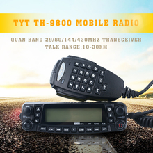 Free shipping Professional TYT TH-9800 mobile radio 29/50/144/430MHz Quad bands Mobile Transceiver TH9800(China (Mainland))
