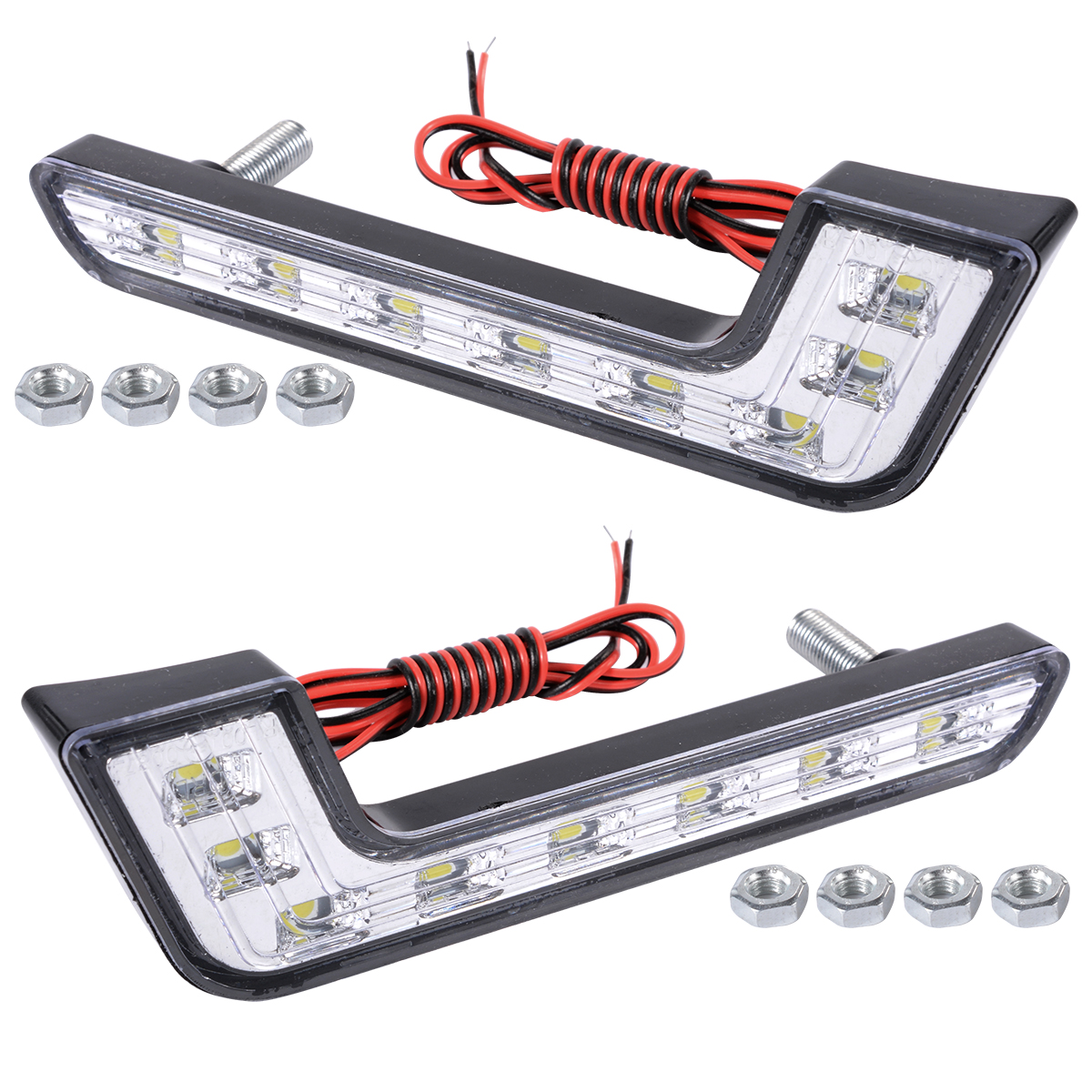 2x 6000k Car Daytime Running DRL Bright Driving Day Light Head Lamp 8 LED white