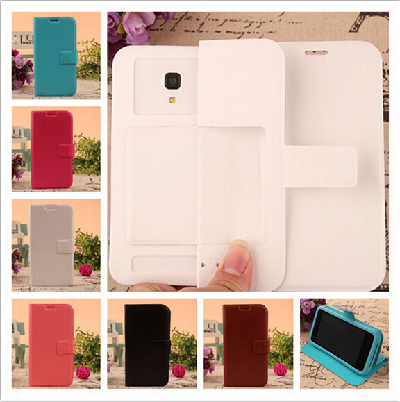 New Flip Leather Silicon Soft Back Cover Protect Phone Cases For Oppo Neo 7 With 6 Colors(China (Mainland))