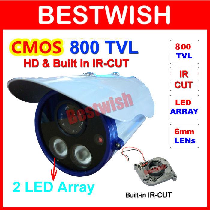 Special Offer HD 1/3 CMOS 800 TVL IR-CUT Filter 2pcs IR 50M Array LED Waterproof Security Color CCTV Camera Day Night Vision(China (Mainland))
