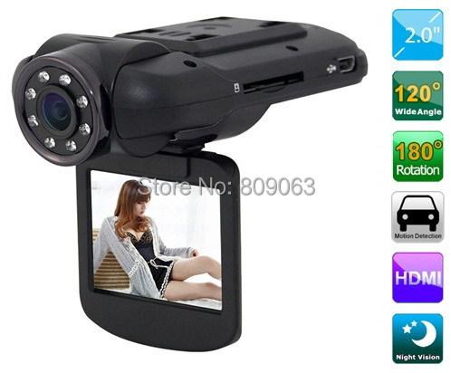 Free shiping F8000 Car DVR Full HD real 1080 30fps 2 0 LCD CMOS Ambarella 5