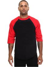 3/4 sleeve blank cotton raglan baseball fashion t shirt men O-Neck tshirt