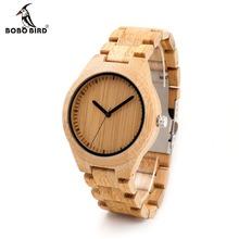 BOBO BIRD Men Dress Bamboo Watches Luxury Men's Top Brand Designer Quartz Watch With Japanese Movement Bamboo Strap For Gift(China (Mainland))