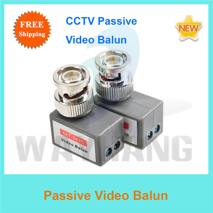 Free Shipping 2 Pairs L Shape Twisted BNC Video Balun passive Transceivers UTP Balun Cat5 CCTV UTP Video Balun up to 400-600M(China (Mainland))