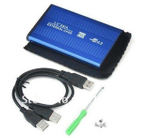 USB 2.0 SATA 2.5 HDD HARD DRIVE EXTERNAL BLACK CASE ENCLOSUR Free Shipping