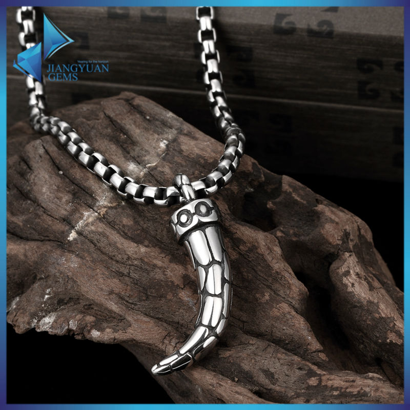 Fashion Pendant Necklace 316L Stainless Steel Chili Style solid chains for Men Women Punk Rock Choker Pendant Innovative Design(China (Mainland))
