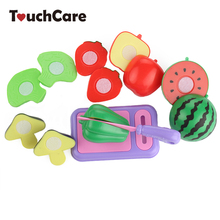 8Pcs/Lot Children Vegetable Fruit Kitchen Toys Kids Pretend Playing Cutting Toy Baby Safety Learning Educational Plastic Toys(China (Mainland))