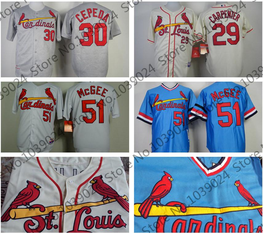 Willie McGee Baseball Jersey 30 1967 /51 29 Baseball30Cepeda youth baseball jersey color white maroon size medium